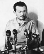 FILE - In this Aug. 26, 1967 file photo, Manuel Espinoza Diaz speaks at a news conference in Caracas, Venezuela, at which he confessed being a Cuban sent to aid Castro-backed guerrillas. The impact of the clandestine intervention was immediately felt: an emergency meeting of regional diplomats was convened in Washington and Venezuela broke off diplomatic relations with Havana. It would take seven years for them to be restored. (AP Photo/GA, File)