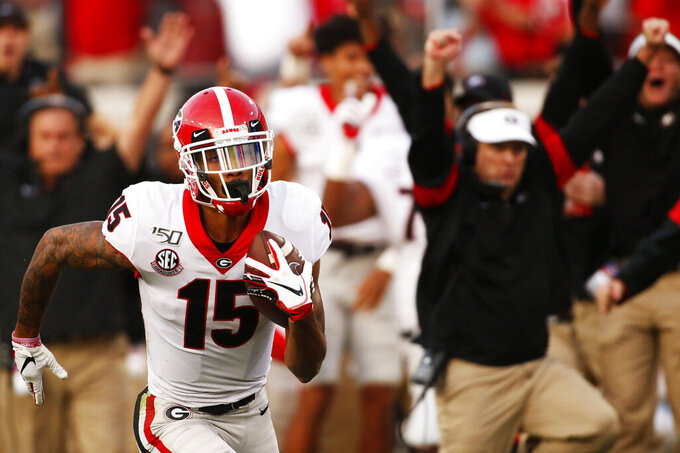 Cager finally living out dream as Georgia's go-to receiver