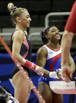 Simone Biles, Ashton Locklear