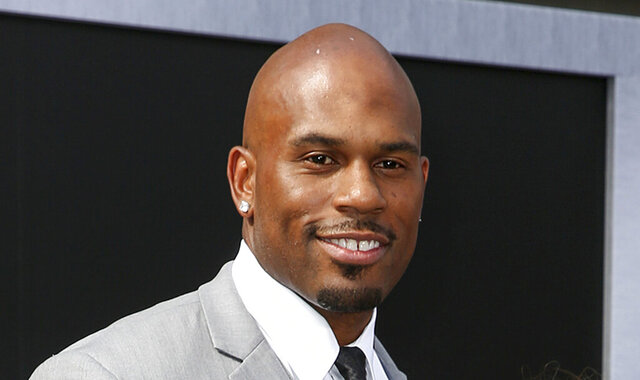 FILE - In this June 28, 2015, file photo, WWE wrestler Shad Gaspard arriving at the Los Angeles premiere of