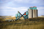 FILE - This Sept. 6, 2019, file photo, shows the Eagle Butte mine just north of Gillette, Wyo. Tennessee-based Contura Energy announced Monday, Oct. 21, 2019, that Blackjewel closed Friday on the sale of the Eagle Butte and Belle Ayr mines to a subsidiary of Alabama-based FM Coal. (AP Photo/Mead Gruver, File)
