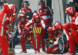 F1 Two Second Stops Auto Racing