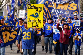 LA Rams Rally Football