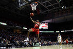 Houston's Dejon Jarreau goes up for a shot during the first half of an NCAA college basketball game against Temple, Wednesday, Jan. 9, 2019, in Philadelphia. (AP Photo/Matt Slocum)