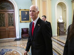 FILE- In this Wednesday, Nov. 14, 2018, file photo Florida Gov. Rick Scott arrives for a meeting with Majority Leader Mitch McConnell, R-Ky., and new GOP senators at the Capitol in Washington. Scott is leading incumbent Sen. Bill Nelson in the state's contentious Senate race. Official results posted by the state on Sunday, Nov. 18, showed Scott ahead of Nelson following legally-required hand and machine recounts. State officials will certify the final totals on Tuesday. (AP Photo/J. Scott Applewhite, File)