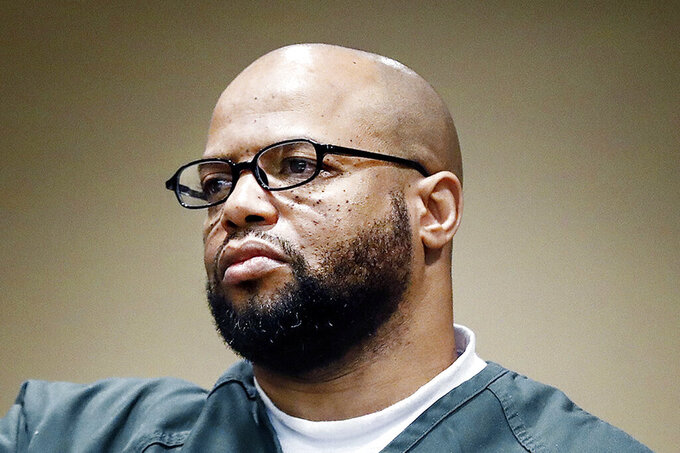 FILE - In this Oct. 5, 2018, file photo, defendant Billy Ray Turner, charged with killing NBA basketball star Lorenzen Wright, makes an appearance in Judge Lee V. Coffee's courtroom in Memphis, Tenn. Judge Coffee, on Wednesday, June 2, 2021, set a 2022 trial date for Turner, charged with conspiring with the ex-wife of Wright to kill the former NBA player nearly 11 years ago in Memphis. (Mark Weber/The Commercial Appeal via AP, File)