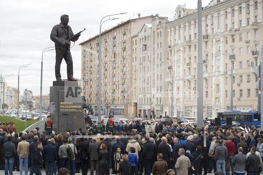 APTOPIX Russia Kalashnikov Monument