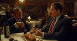 This image released by Netflix shows Joe Pesci, left, and Robert De Niro in a scene from