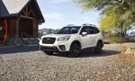 This undated photo from Subaru shows the Forester, a small SUV that features steering-responsive headlights and a driver distraction monitor. (Courtesy of Subaru of America via AP)