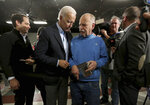 Democratic presidential candidate and former Vice President Joe Biden greets attendees during his