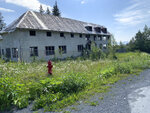 This undated photo shows a building that remains at the site of the Jesse Lee Home in Seward, Alaska, where the territorial flag, which later became the Alaska state flag, was first flown. The Seward City Council will decide Monday, July 13, 2020, whether to demolish the remaining buildings. (Trish Neal via AP)