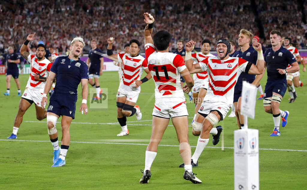 APTOPIX Japan Rugby WCup Japan Scotland