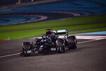Mercedes driver Lewis Hamilton of Britain in action during the qualifying at the Formula One Abu Dhabi Grand Prix in Abu Dhabi, United Arab Emirates, Saturday, Dec. 11, 2020 (Giuseppe Cacace, Pool via AP)