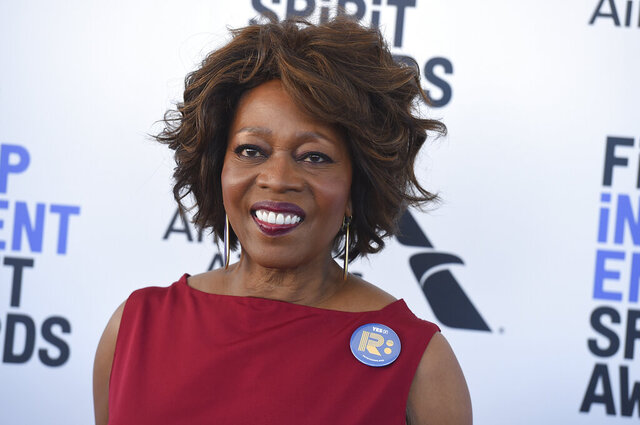 FILE - In this  Saturday, Feb. 8, 2020 file photo, Alfre Woodard arrives at the 35th Film Independent Spirit Awards in Santa Monica, Calif. Oklahoma began a centennial remembrance Friday, Jan. 1, 2021 of a once-thriving African American neighborhood in Tulsa decimated by deadly white violence that has received growing recognition during America's reckoning over police brutality and racial violence. Emmy Award-winning actress and Tulsa native Alfre Woodard and U.S. Sen. James Lankford both delivered remarks via video to a small crowd that gathered in chilly, snowy weather at the John Hope Franklin Reconciliation Park. (Photo by Jordan Strauss/Invision/AP, File)