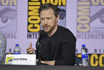 James McAvoy speaks at the