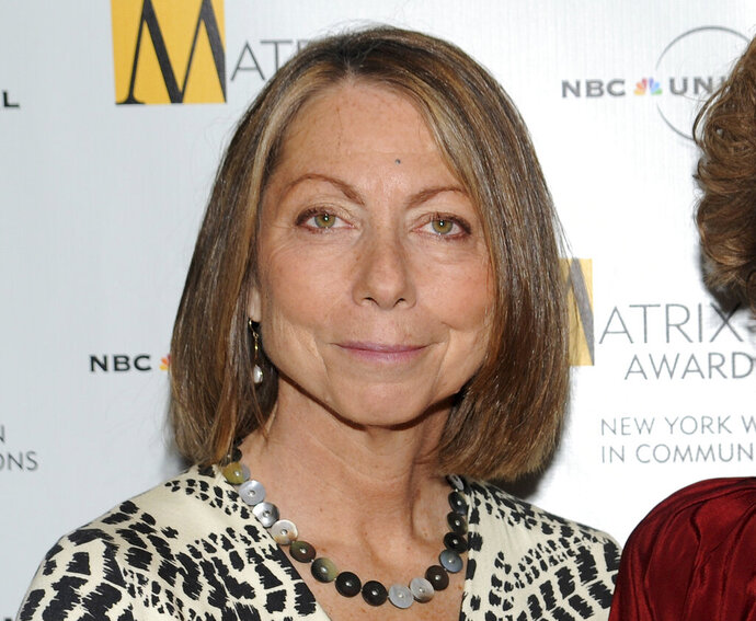 FILE - In this April 19, 2010, file photo, Jill Abramson attends the 2010 Matrix Awards presented by the New York Women in Communications at the Waldorf-Astoria Hotel in New York. The former New York Times executor editor's media critique sold just over 2,800 copies during its first week of publication, according to numbers released Thursday by NPD BookScan. (AP Photo/Evan Agostini, File)