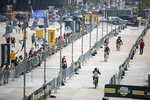 Green Bay Packers players make their way back from the practice field to Lambeau Field at the conclusion of NFL football training camp Saturday, July 31, 2021, in Green Bay, Wis. (AP Photo/Matt Ludtke)