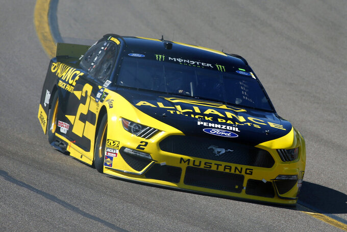 Brad Keselowski drives during the NASCAR Cup Series auto race at ISM Raceway, Sunday, March 10, 2019, in Avondale, Ariz. (AP Photo/Ralph Freso)