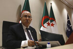 """Algerian Foreign Minister Ramtane Lamamra is to read a statement from the country's president in Algiers, Tuesday, Aug.24, 2021. Algeria's foreign minister said Tuesday that his country is breaking diplomatic ties with Morocco """"starting today,"""" amid growing hostility between the North African neighbors. (AP Photo/Fateh Guidoum)"""