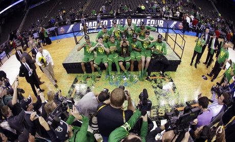 NCAA Oregon Kansas Basketball