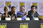 Maisie Williams, from left, Jacob Anderson, Liam Cunningham and Nikolaj Coster-Waldau appear at the