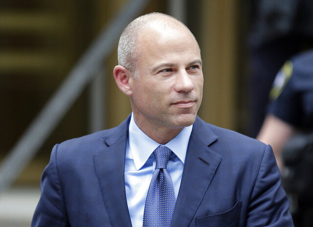 FILE - In this May 28, 2019 file photo, attorney Michael Avenatti leaves a courthouse in New York. Prosecutors say Avenatti was over $15 million in debt when he tried to extort up to $25 million from Nike, while Avenatti's lawyers say the money he legally requested to conduct an internal probe of the sportswear giant was a bargain. Both sides made the assertions in court papers filed late Tuesday, Dec. 24, in advance of a Jan. 22 criminal trial in Manhattan, giving U.S. District Judge Paul G. Gardephe time to decide what the jury will be allowed to hear and see. (AP Photo/Seth Wenig, File)
