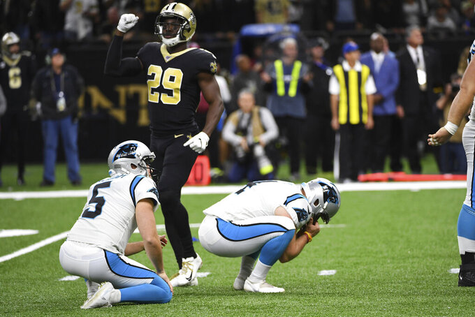 Panthers kicker blames his misses for costly loss to Saints