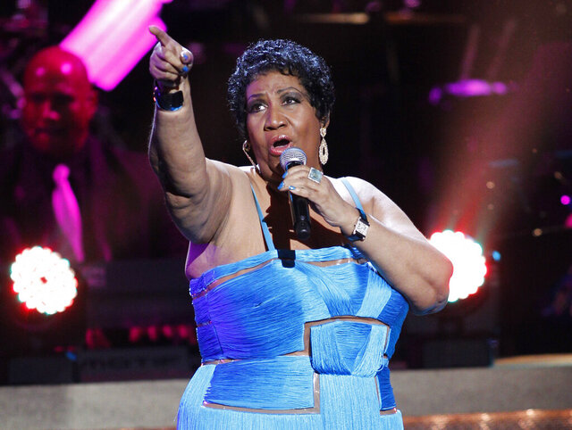 FILE - This Jan. 14, 2012 file photo, shows singer Aretha Franklin performing during the BET Honors at the Warner Theatre in Washington. Franklin's niece, Sabrina Owens, said she's quitting as representative of the late singer's estate, citing a rift in the family since handwritten wills were discovered last year. Franklin died on Aug. 16, 2018 at the age of 76. (AP Photo/Jose Luis Magana, File)