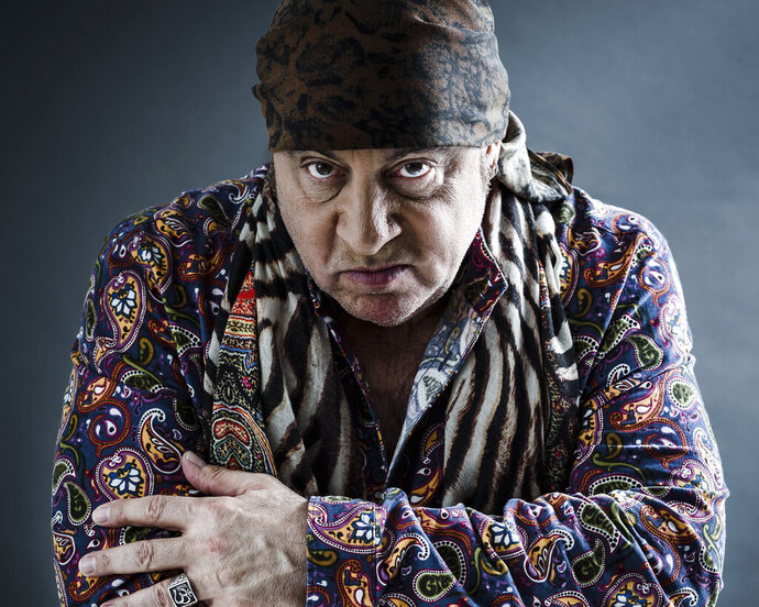 """This May 6, 2019 photo shows actor and musician Steven Van Zandt in New York. Van Zandt's new album """"Summer of Sorcery,"""" is a 12-track collection of original material. (Photo by Christopher Smith/Invision/AP)"""