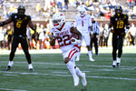 Arkansas running back Trelon Smith scores on a touchdown run during the second half of an NCAA college football game against Missouri Saturday, Dec. 5, 2020, in Columbia, Mo. (AP Photo/L.G. Patterson)