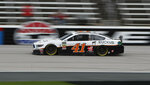 Daniel Suarez (41) drives during practice for a NASCAR Cup Series auto race at Texas Motor Speedway in Fort Worth, Texas, Friday, March 29, 2019. (AP Photo/LM Otero)