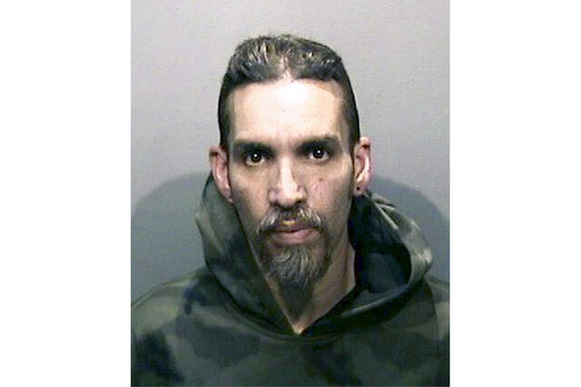 FILE - This Monday, June 5, 2017, file photo released by the Alameda County Sheriff's Office shows Derick Almena at Santa Rita Jail in Alameda County, Calif. Almena awaiting retrial in a fire that killed 36 partygoers at a San Francisco Bay Area warehouse was released from jail Monday, May 4, 2020, because of the coronavirus outbreak. Almena, 50, was released from the Santa Rita Jail after a teleconference hearing Monday, the Alameda County Sheriff's office said. (Alameda County Sheriff's Office via AP, File)