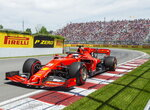 Ferrari driver Sebastian Vettel of Germany drives through the Senna corner during qualifying for the Formula One Canadian Grand Prix auto race in Montreal, Saturday, June 8, 2019. (Ryan Remiorz/The Canadian Press via AP)