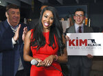 In this Nov. 12, 2019, photo, Republican Kim Klacik kicks off her run for the Congressional 7th district during a campaign event in Hunt Valley to replace the late Rep. Elijah Cummings, in Baltimore. Democrat Kweisi Mfume and Republican Kimberly Klacikwon special primaries, Tuesday, Feb. 4, 2020, for the Maryland congressional seat that was held by the late Elijah Cummings. (Kenneth K. Lam/The Baltimore Sun via AP)