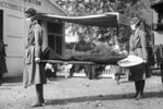 FILE - This photo made available by the Library of Congress shows a demonstration at the Red Cross Emergency Ambulance Station in Washington during the influenza pandemic of 1918. Historians think the pandemic started in Kansas in early 1918, and by winter 1919 the virus had infected a third of the global population and killed at least 50 million people, including 675,000 Americans. Some estimates put the toll as high as 100 million. (Library of Congress via AP, File)