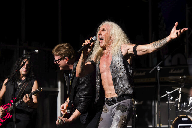FILE - In this Sept. 2, 2016, file photo, Dee Snider from the band Twisted Sister performs on the Fox News Channel's