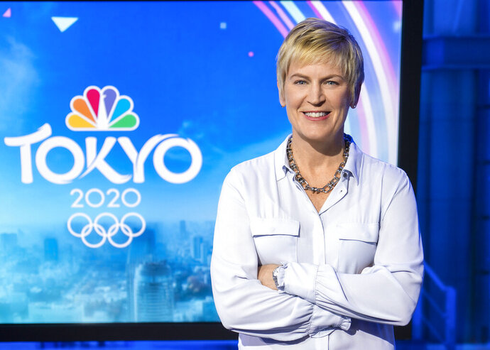 In a photo provided by NBC Sports, Molly Solomon, executive producer and president of NBC's Olympics production unit, poses for a photo in March 2020. With the Summer Olympics postponed a year due to the coronavirus, Solomon and her team have reset their countdown clocks while trying to adjust to a new set of challenges. Any Olympics provides plenty of compelling storylines, but Solomon says Tokyo takes on bigger importance with everything that has transpired worldwide this year. (Zi Wang/NBC Sports via AP)