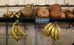 Plantains and squash are displayed for sale at a market stall in Havana, Cuba, Wednesday, July 31, 2019. The Cuban government is capping prices for food and beverages throughout the country in order to control the risk of inflation due to a state wage hike and stagnant productivity. (AP Photo/Ismael Francisco)