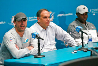 Adam Gase, Mike Tannenbaum, Chris Grier