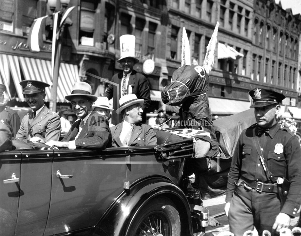 Associated Press Domestic News Kansas United States Election campaigns FDR CAMPAIGN TRAIL 1932