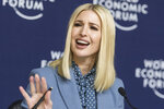 Ivanka Trump, senior adviser to U.S President Donald Trump, speaks during a press conference at the World Economic Forum in Davos, Switzerland, Wednesday, Jan. 22, 2020. The 50th annual meeting of the forum is taking place in Davos from Jan. 21 until Jan. 24, 2020. (Alessandro della Valle/Keystone via AP)