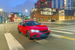 This photo from Honda shows the redesigned Civic sedan. It has a new look plus a few more technology features than before. (American Honda Motor Co. via AP)