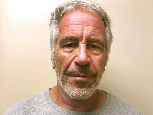 FILE - This March 28, 2017, file photo, provided by the New York State Sex Offender Registry shows Jeffrey Epstein. A report released Friday, May 1, 2020, by Harvard University found that Epstein visited its campus more than 40 times after his 2008 sex crimes conviction and was given his own office. The school accepted $9 million from Epstein before his conviction but barred additional donations after that. Epstein was found unresponsive in a New York jail cell on Aug. 10, 2019, and was pronounced dead in a hospital that day. (New York State Sex Offender Registry via AP, File)