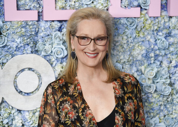 FILE - This May 29, 2019 file photo shows actress Meryl Streep at the premiere of HBO's