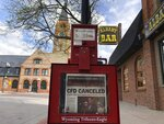 This Thursday, May 28, 2020 photo shows the Wyoming Tribune Eagle newspaper, seen here near Cheyenne's historic Union Pacific rail depot In Cheyenne, Wyo. The paper had bad news for local businesses already suffering during the coronavirus pandemic, The Cheyenne Frontier Days rodeo and cowboy festival wouldn't be held this year for the first time in its 124-year history. (AP Photo/Mead Gruver)