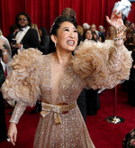 FILE- In this Feb. 9, 2020, file photo, Sandra Oh arrives at the Oscars in Los Angeles. Oh turns 49 on July 20. (AP Photo/John Locher, File)