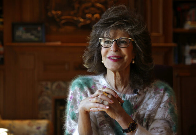In this Wednesday, March 27, 2019 photo, author Shoshana Zuboff speaks to a reporter in her home in Maine. Zuboff is the author of