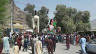 Locals stage anti Taliban protest in Asadabad, Afghanistan