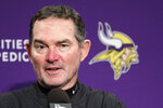 Minnesota Vikings head coach Mike Zimmer speaks at a news conference following an NFL football game against the Seattle Seahawks, Monday, Dec. 2, 2019, in Seattle. The Seahawks won 37-30. (AP Photo/John Froschauer)
