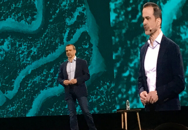 This June 2019 photo shows Jeff Wilke at an Amazon conference in Las Vegas. Amazon says executive Wilke, who oversees the company's retail business, will retire early in 2021. He will be replaced by Dave Clark, who runs Amazon's warehouses and delivery network. Wilke has been at Amazon for more than two decades.  (AP Photo/Joseph Pisani)
